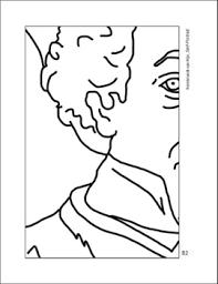 Community Coloring Page Self Portrait By Rembrandt Van Rijn Tpt