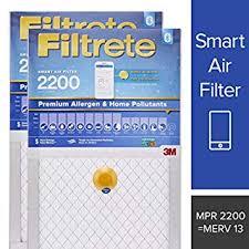 Filtrete 16x20x1 Smart Air Filter Mpr 2200 Premium