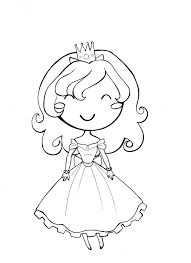Small Picture Girl Princess Coloring Page