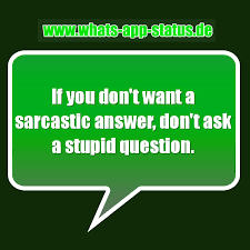 A Sarcastic Answer Whatsapp Status Sprüche