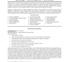 Store Manager Job Description Resume Sample District Manager Resume Gallery Retail Resumes Template 100