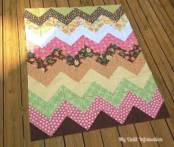 Chevron Quilt Pattern Magnificent My Quilt Infatuation Easy Peasy Chevron Quilt Tutorial