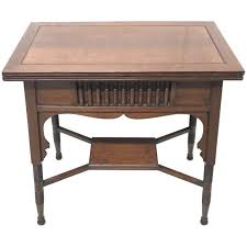 Liberty And Co An Anglo Moorish Arts And Crafts Walnut Fold Over