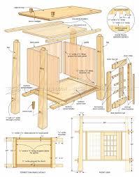 japanese furniture plans. japanese cabinet plans furniture woodarchivist