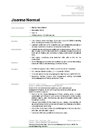 Example Of Curriculum Vitae For Students Sample Of A Student Cv