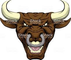 бык Character Face стоковая векторная графика и другие изображения