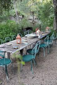 designer penelope bianchi s provençal farmhouse in santa barbara rustic outdoor outdoor tables