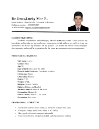 Resume Format For Electronics Engineering Student Resume Template