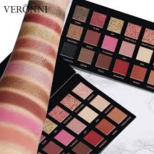 <b>18 Colors</b> Eyeshadow <b>Textured</b> Pallete Faced Matte Pearl Makeup ...