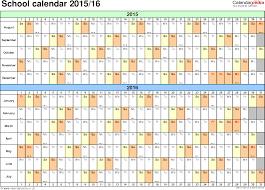 School Calendar Template 2015 2020 School Calendars 2015 2016 As Free Printable Word Templates