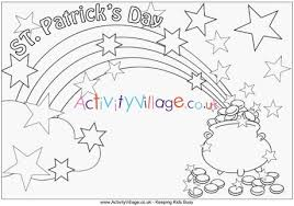 St Patricks Day Coloring St Patricks Day Colouring Page 2