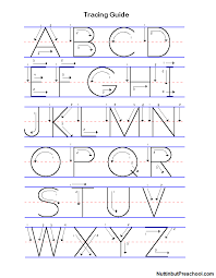 Manuscript Uppercase and Lowercase Tracing Guide   Nuttin' But ...