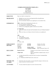 Free Combination Resume Template Word Free Resume Templates Combination Template Word Example Of In 24 1