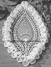 Oval Crochet Doily Patterns Free Best Oval Pineapple Ruffled English Crochet Pattern Vintage Doily Free