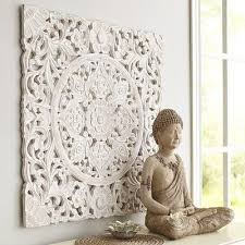 white carved wall decor from pier 1