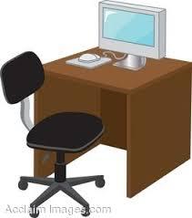 computer desk clipart. Fine Computer On Computer Desk Clipart U