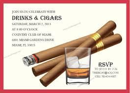 Cuban Party Decorations Cigar Party Invitation Digital File