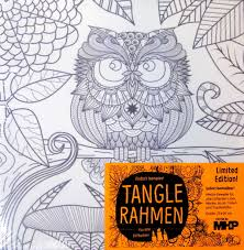 Ch Ssis En Toile Colorier Mhp Tangle Rahmen Hibou La