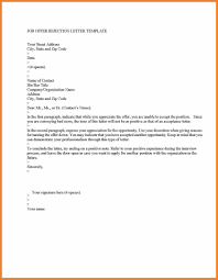 Awesome Collection Of How To Write A Letter Reject Job Offer On