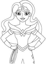 Girl Superhero Coloring Pages At Getdrawingscom Free For Personal