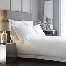 paris 400tc cotton percale white and silver grey bed linen collection