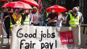 Streik er en organisert stans i arbeidet for å oppnå et formål. Streiken Funktioniert Auch Unter Corona M Menschen Machen Medien Ver Di