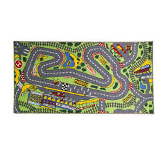 flair rugs childrens kids matrix kiddy formula 1 car map rug