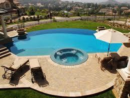 backyard infinity pools. Baja Step Backyard Infinity Pools