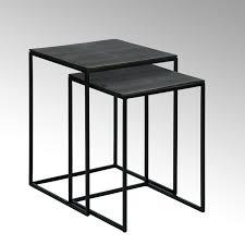 dagny side table set of 2 frame black