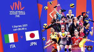 ถ่ายทอดสด วอลเลย์บอลหญิง เนชันส์ลีก 2021 อิตาลี vs ญี่ปุ่น Full HD