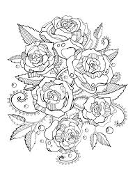 roses coloring book for s vector stock vector ilration of doodle decoration