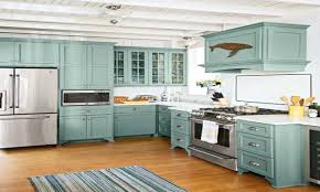 Beach Cottage Kitchen Image Of Cottage Style Kitchen Stratton Blue Kitchen Cabinets
