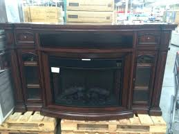 furniture charming electric fireplace tv stand costco wadeimagingcom