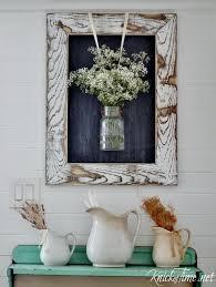 flower spray weathered mason jar wall art