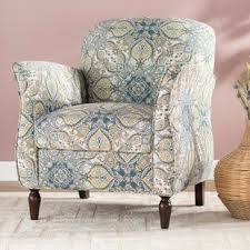 Blue Pattern Accent Chair Gorgeous Blue Pattern Accent Chair Wayfair