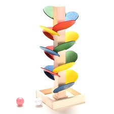marble run track toys for children wooden toys building blocks tree marble marble run track game