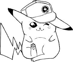 32 Dessins De Coloriage Pikachu Imprimer Avec Dessin Kawaii Fille A