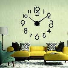 3d wall clock diy stylish clock than