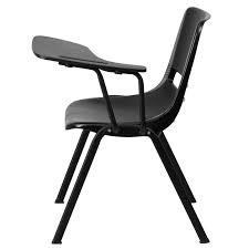 ergonomic s chair with left or right handed flip up tablet arm