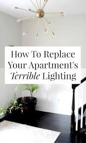 how to put ceiling lights in apartment install track lighting