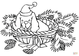 Small Picture Christmas Dog coloring page Free Printable Coloring Pages