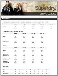Superdry Jacket Size Chart Superdry Mens Jacket Size Guide Design Innovation