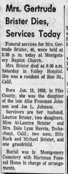 Gertrude Johnson Obituary - Newspapers.com