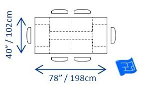 what does this mean for table size dining dimensions h86 dimensions