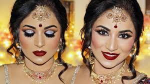 indian bridal makeup tutorial reception look by smithadbeauty