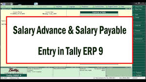 Salary Expenses Calculator How To Enter Salary And Salary Advance Entries In Tally Erp9
