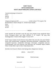 Pp Properti Tbk Sample Letter Of Attorney Pp Properti