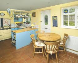 yellow country kitchens. Fine Country Modern Style Photo Of Colourful Beige Blue Cream White Yellow Kitchen With  Floor And For Country Kitchens