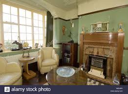 Refurbished Art Deco  S House Interior Lounge Living Room - Livingroom deco