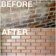 before and after brick cleaning